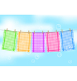 Colorful towels vector image