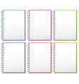 Six spring notebooks vector image vector image