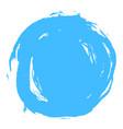 blue brush stroke circle shape vector image