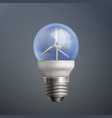 energy wind turbine vector image