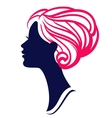 Beautiful womanl silhouette with stylish hairstyle vector image vector image