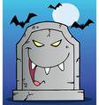Tombstone cartoon vector image vector image