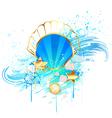 precious blue seashell vector image