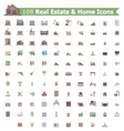 Real estate and home icon set vector image vector image