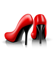 red shoes vector image