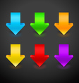 3D Arrow Icon Set vector image