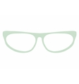 Green cat eye glasses isolated on white background vector image