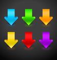 3D Arrow Icon Set vector image vector image