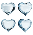 Light blue hearts vector image vector image