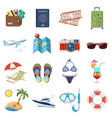 Vacation and Tourism Flat Icons Set vector image