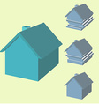 Infographics of house in 3d House with displaced vector image