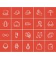Accessories sketch icon set vector image