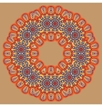 colored circular ornament in Oriental style vector image