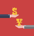 currency exchange dollar and yen vector image