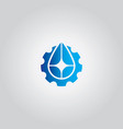 droplet gear water logo vector image
