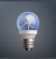 energy wind turbine vector image