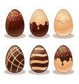 Happy Easter-Ferrous and White Chocolate eggs vector image