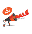 megaphone Sign Sale vector image