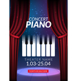 Piano music concert background Musical poster vector image