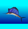 sailfish jumping out of water realistic vector image