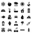 variety of species icons set simple style vector image