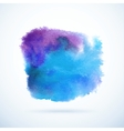 Watercolor background Abstract grunge blob vector image