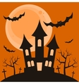 Halloween night background with terrible house vector image vector image