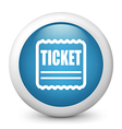 Ticket Glossy Icon vector image vector image