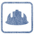 construction helmet fabric textured icon vector image