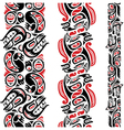 Haida style tattoo pattern vector image vector image