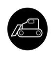 caterpillar bulldozer icon vector image vector image