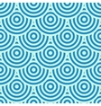 Blue circles background vector image vector image
