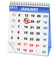 icon calendar old New Year vector image vector image