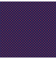 Seamless pattern with red polka dots on blue vector image