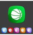 Basketball icon flat web sign symbol logo label vector image
