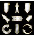arrows set in metallic style vector image vector image