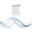 abstract background blue transparent waved vector image