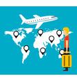 airport concept design vector image
