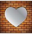 Brick wall with heart vector image