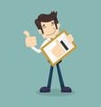 Businessman holding like thumbs up vector image