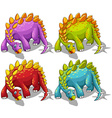 Dinosaurs with spikes tail vector image