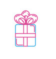 line present gift with ribbon bow design vector image