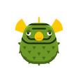 marine globefish or blow fish icon vector image