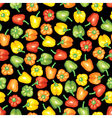 peppers seamless black vector image