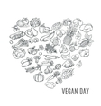 vegan day vector image