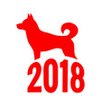 year of the dog chinese zodiac symbol of 2018 dog vector image