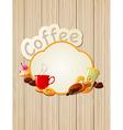 menu label coffee vector image