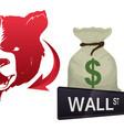 wall street new york financial vector image