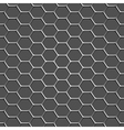 3d monochromatic honeycomb pattern background vector image vector image