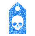 death coupon grunge icon vector image